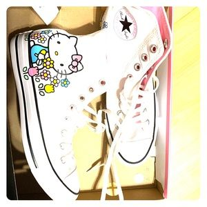 Brand New Hello Kitty x Converse high tops 8.5